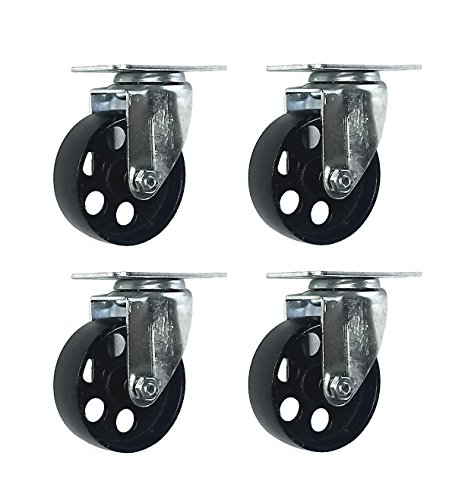All Industrial Hardware Steel Swivel Plate Caster Wheels Bra