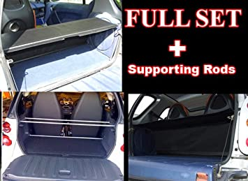 Smart ForTwo Parcel Shelf Cover and Supporting Rods for all 450 Models Red Leatherette