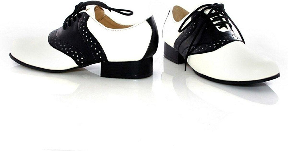 Ellie Shoes 33564 Saddle Shoes Ni-o Blanco y Negro Tama-o Peque-o 11-12 QjWTaaQo5