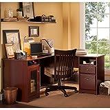 wood home office desks. cabot l shaped desk in harvest cherry wood home office desks