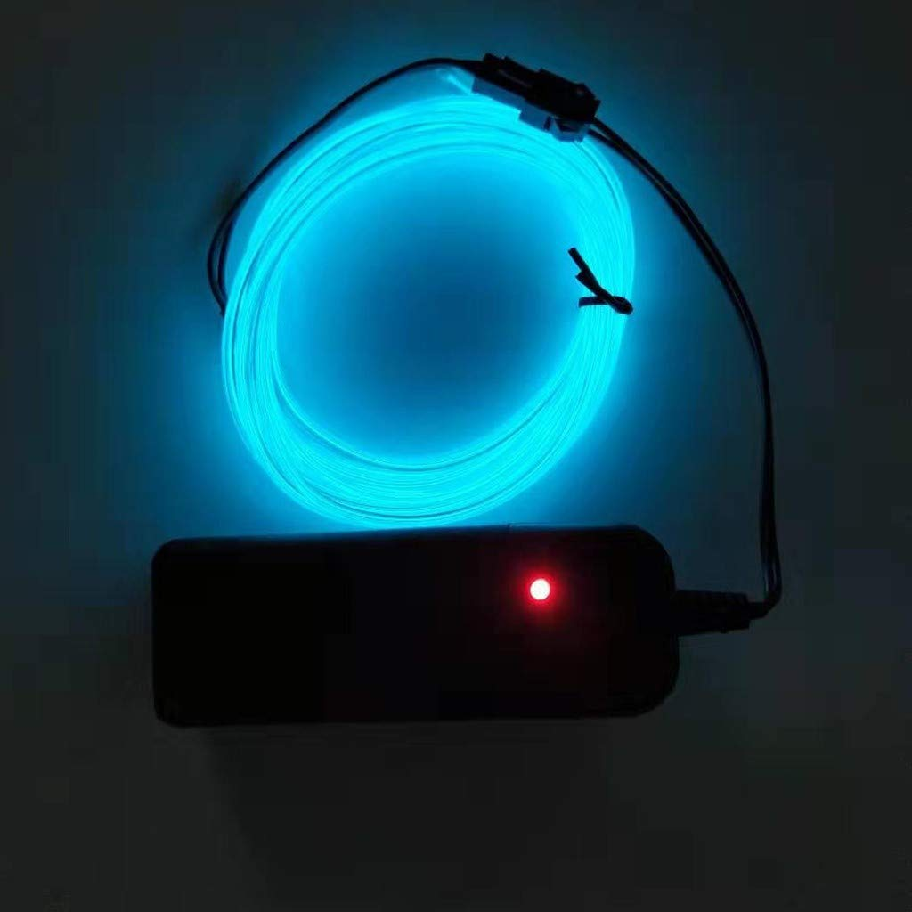 1M Battery Operated Luminescent Neon LED Lights Glow EL Wire String Strip Rope Chaofanjiancai