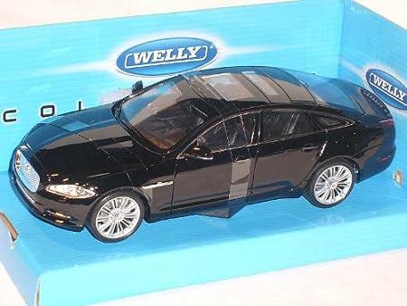 Jaguar XJ X351 Limousine Schwarz Ab 2009 1//24 Welly Modell Auto mit oder ohne in