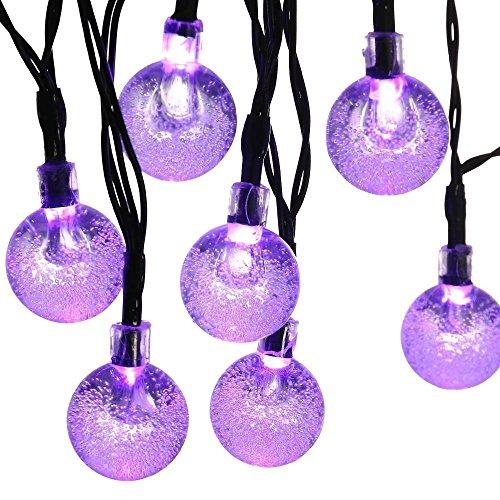 Solar String Lights, 20ft 30 LED Waterproof Outdoor Globe Fairy Lighting for Indoor/Outdoor