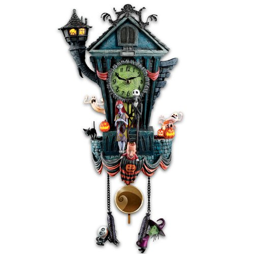 Bradford Exchange The Cuckoo Clock: Tim Burton's The Nightmare Before Christmas Wall Clock]()