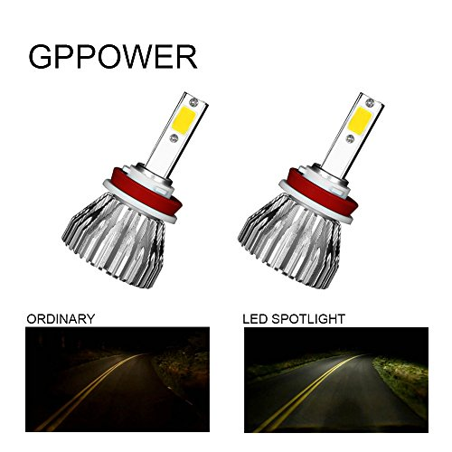GPPOWER LED FOG LIGHT H8 H9 H11 WITH STROBE FLASHING MODEL 3000LM 3000K AMBER