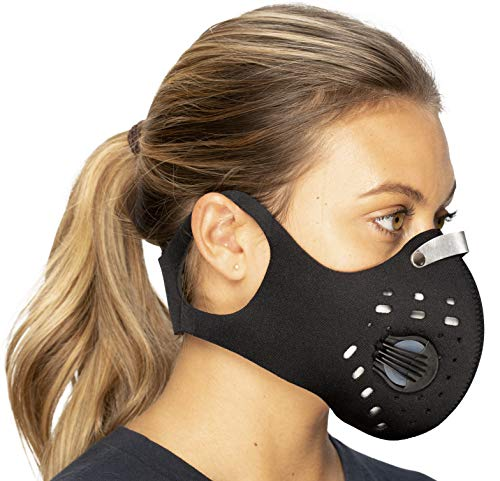 - Anti Pollution Face Mask with Military Grade N99 Activated Carbon Protection | Anti Smoke, Exhaust Gas, Dust, Pollen, Allergens | Running, Walking, Cycling and other Outdoor Activities (Pure Black)