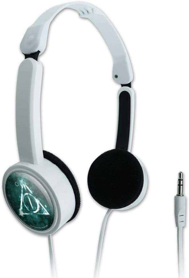 GRAPHICS & MORE Harry Potter Deathly Hallows Logo Novelty Travel Portable On-Ear Foldable Headphones