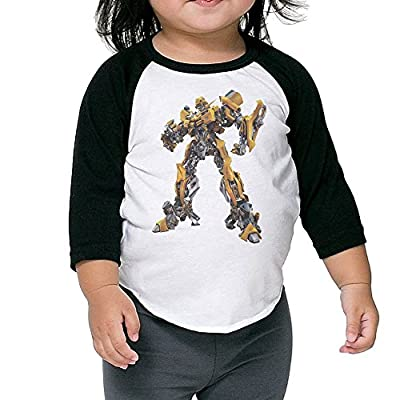 Kid's Transformers Toddler Boy Girl 3/4 Sleeves Blended T-Shirt 100% Cotton