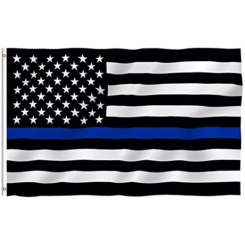 HomeSmith Thin Blue Line 3'x5' Ft American US Flag - Lives M