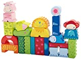 HABA Eeny, Meeny, Miny Zoo! 25 Piece Mix & Match Animal Blocks (Made in Germany)