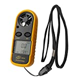 TrendBox LCD Digital Wind Speed Gauge Meter Anemometer Thermometer GM816 Automatic Electronic Tester Pocket Portable Handheld