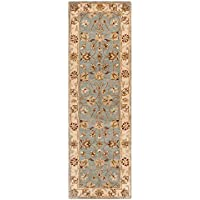 Safavieh Royalty Collection ROY343B Handmade Traditional Blue and Beige Wool Runner (23 x 7)