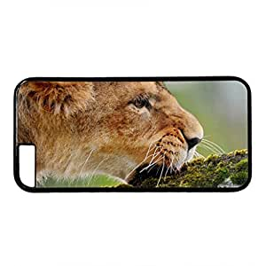 iCustomonline Lion Eating the Moss Designed Hard PC Black Case Cover Skin for iPhone 6 (4.7 inch)