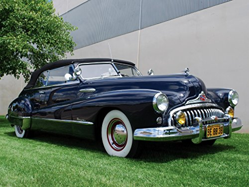 1948 Buick Roadmaster Convertible Mouse Pad mousepad Classic Vintage Old Cars Hot Rods Speed Computer Dessktop Supplies (Buick Convertible)