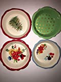 5 inch pie plate - The Pioneer Woman 5 Inch Mini Pie Plate Mixed Set Of 4 Ceramic Floral Oven Safe
