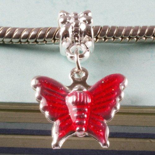 30pcs Shiny Silver Pendant Link Fits Charm Bracelet
