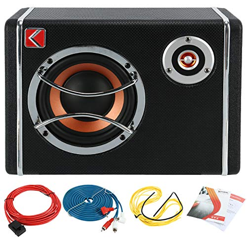 (6 Inch Ultra-Thin Under Seat Car Low Sound Sub Woofer Powered Active Bass Amplifier)