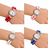 Ikevan Women Students Beautiful Fashion Brand New Golden Pearl Quartz Bracelet Watch