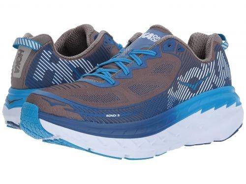 Hoka One One(ホカオネオネ) メンズ 男性用 シューズ 靴 スニーカー 運動靴 Bondi 5 - Charcoal Gray/True Blue [並行輸入品] B07BMC8Q7Z