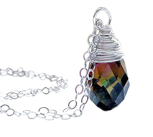 hand wrapped fluorite crystal necklace