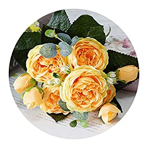 You Are My Eye Rose Peony Silk Artificial Flowers Small Bouquet Flores Home Party Wedding Decoration,3 37