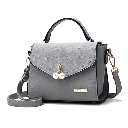 Upgraded of GUANGMING77 De Bolsa Pequeña grey Pearl Blanco Bolsa version Señorita Arroz Actualizada Versión Bolsa Perla OPwpxO