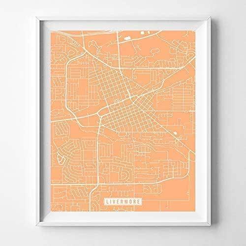 Home Decor Livermore: Amazon.com: Livermore California City Street Map Wall Art