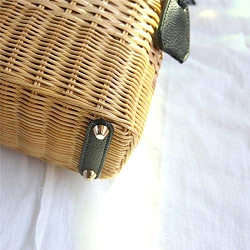 Bolso De Paja Mujer Verano Bolso De Paja Bolso De Ratán Con Cierre A Mano Bolso De Mensajero Bolso De Playa De Bambú zfBevuL1