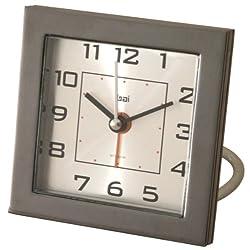 Bai Square Diecast Solid Metal Travel Alarm Clock, Gotham