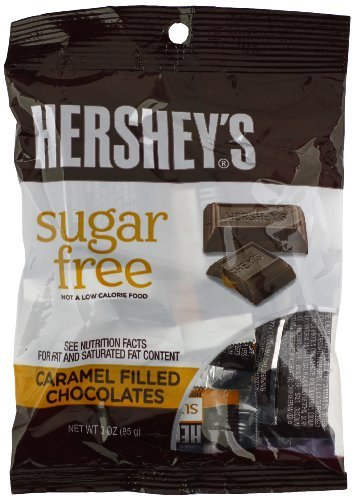 Hershey's Sugar-Free Milk Chocolate Caramel Filled, 3-Ounce Bags by Hershey's -