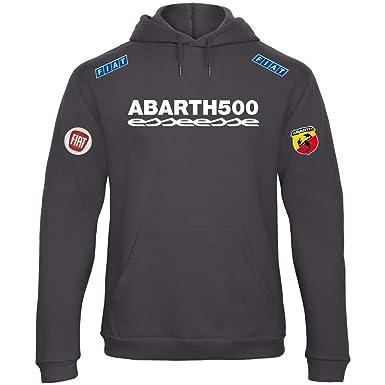 Sudadera con Capucha Deportiva Sweatshirt Hombre Abarth 500 Fiat Team Italia Motorsport Tuning Coche Moto Auto