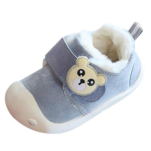 Zapatos Niñas Invierno, ❤ Zolimx Zapatilla de Casa Calzado para Niños Pequeños Bebé Niña Recien Nacido Zapatillas de Algodón Suave Zapatos: Amazon.es: ...
