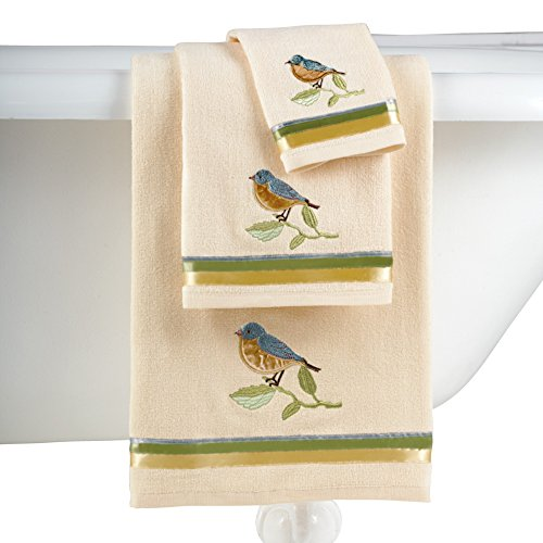 Birds Blooms Bathroom Towel Set