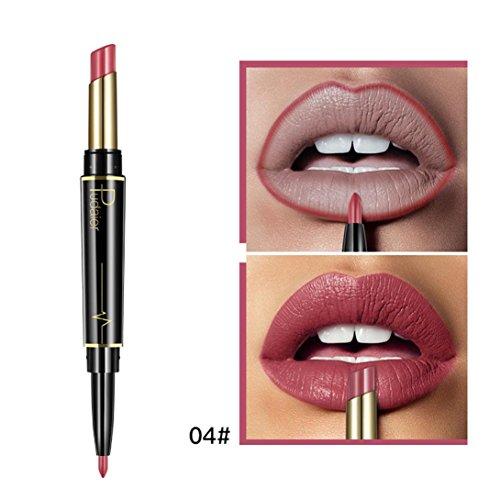 Inverlee New Lip Liner Pencil Double-end Lasting Lipliner Waterproof Lip Liner Stick Pencil Long Lasting Lipliner Makeup Tools Cosmetic 16 Color (D)