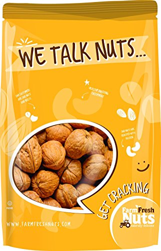 - WALNUTS Natural In Shell -JUMBO California Walnuts - Great Source of Omega 3 - !! FRESH NEW CROP !! (4 LB)