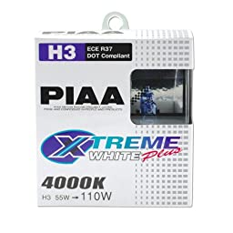 PIAA 15223 H3 Xtreme White Plus High Performance Halogen Bulb, (Pack of 2)