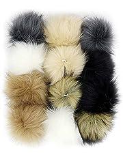 DIY Faux Fox Fur Fluffy Pompom Ball Mix Colors for Hats Shoes Scarves Bag Charms Accessories 12 pcs (Mix Colors)