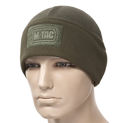 M-Tac Skull Cap Windproof 380 Winter Hat With Velcro Mens Watch Tactical Beanie (Olive, Small) - Patrol Watch Cap
