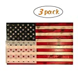 3 Pack American Flag 50 Star Stencil Template, Reusable for Painting on Wood, Fabric, Wall, Airbrush, 3 Sizes