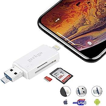 Amazon com: geekgo SD Card Reader,Micro SD TF USB Memory