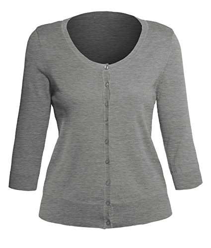 Women's Classic Button Down 3/4 Sleeve Basic Plus