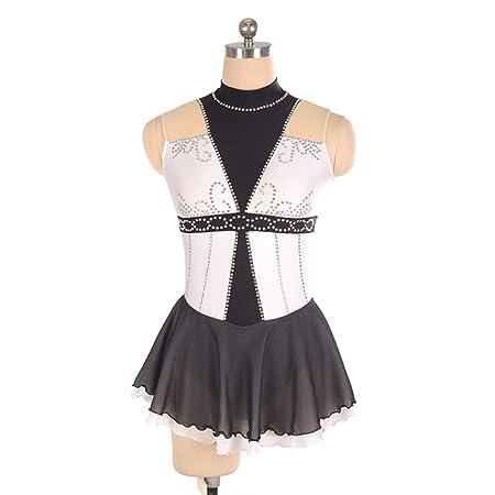 Rmckj-M Vestido de Patinaje artístico para Mujeres y niñas, Falda ...