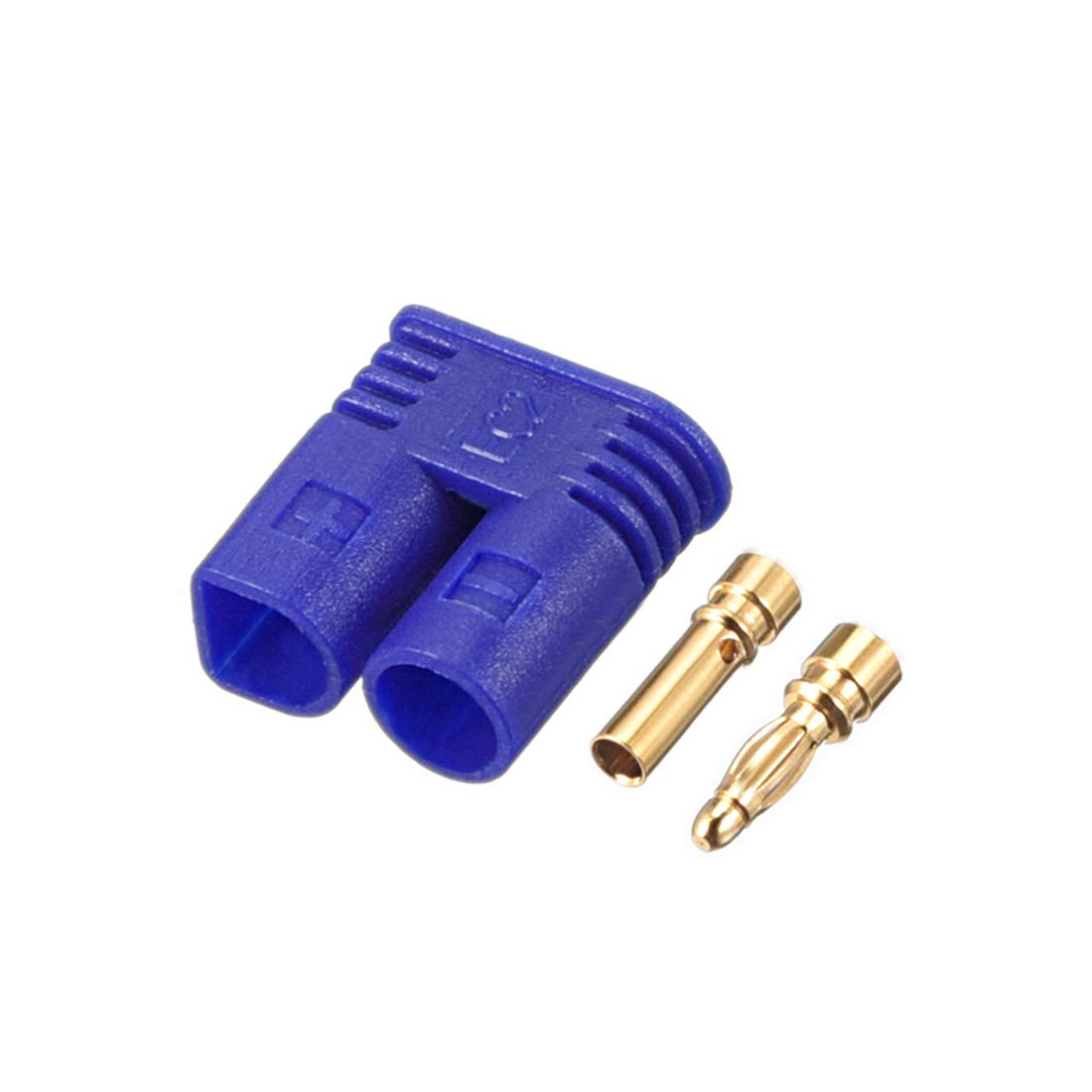 uxcell 4Sets 2MM Bullets Connectors Banana Plugs Male Female Plug Set with Housing #0226