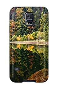 New Premium Flip Case Cover Reflection Earth Nature Reflection Skin Case For Galaxy S5