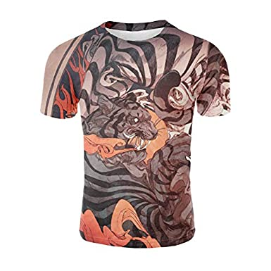 3D Print Chinese Dragon Monkey T-Shirt Men Short Sleeve Funny Summer Tops Tee T Shirt