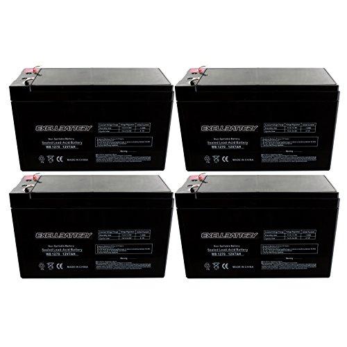 4pc 12V 7Ah SLA Battery EB1270F1 for UB1270, 40800, WKA12-7F Many Uses Alarm System, fire Alarm, Burglar Alarm, UPS Backup Battery, Smoke Detector, exit Signs, inverters, Lighting, Signage, Toys