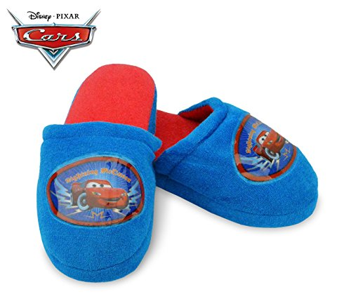 305-444 Chaussons d'hiver pour enfants avec intérieur polaire Disney Cars - Bleu et rouge, 34/35
