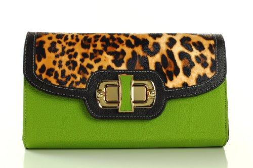 Designer Inspired Cassia Clutch/Handbag – Green, Bags Central