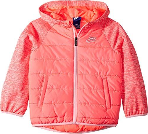 Nike Kids Girl's Therma Fleece Quilted Jacket (Little Kids) Racer Pink 6