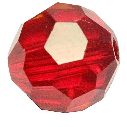50 10mm Adabele Austrian Round Crystal Beads Siam Round Beads Compatible with 5000 Swarovski Crystal Preciosa SS2R-1005 (Bicone Bead Swarovski 10mm)